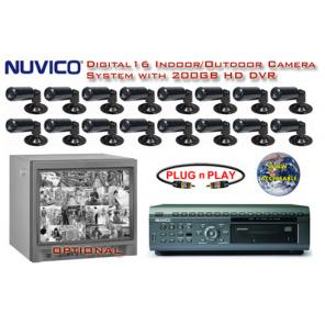 ***ALL DIGITAL *** 16 BLACK & WHITE CAMERA SYSTEM WITH DIGITAL MULTIPLEXER RECORDER ***Professional Grade***