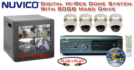 ALL DIGITAL 4 COLOR HI-RES. VARI-FORCAL DOME CAMERA SYSTEM WITH NUVICO DVR  ***Professional Grade***