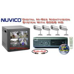 ALL DIGITAL 4 COLOR HI-RES IR NIGHTVISION CAMERA SYSTEM WITH NUVICO DVR  ***Professional Grade***