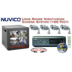 ALL DIGITAL 4 LONG RANGE IR NIGHTVISION CAMERA SYSTEM WITH NUVICO DVR ***Professional Grade***