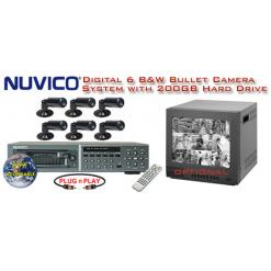 ***ALL DIGITAL *** 6 BLACK & WHITE CAMERA SYSTEM WITH DIGITAL MULTIPLEXER RECORDER  ***Professional Grade***