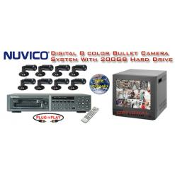 ***ALL DIGITAL *** 8 COLOR CAMERA SYSTEM WITH DIGITAL MULTIPLEXER RECORDER  ***Professional Grade***