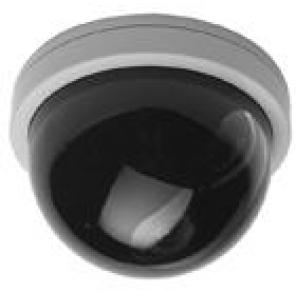 GE SECURITY DS-1200-8-S 4-INCH DOME CAMERA, HIGH RES, 580 TVL B/W, 8MM LENS, 12VDC, SMOKE DOME