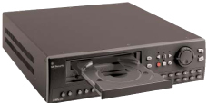 GE SECURITY DVMRe-4CT-600A 4-CHANNEL COLOR TRIPLEX MULTIPLEXER-RECORDER W/ 600-GB HARD DRIVE, ETHERNET, AUDIO