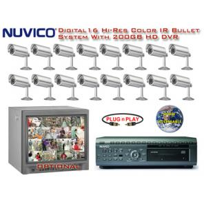 NUVICO 16 CAMERA DAY/NIGHT COLOR DIGITAL VIDEO SURVEILLANCE SYSTEM  ***Professional Grade***