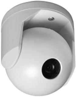 GE SECURITY GBC-BC-450-8 Weatherproof ball camera (3″), B/W 1/3″ CCD, 425 TVL, 0.1 lux, 8 mm lens