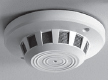 GE SECURITY GBC-SD-950-6 Smoke detector, side viewing camera, color 1/4″ CCD, 380 TVL, 1 lux, 6 mm lens equivalent