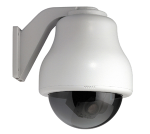 GE SECURITY KTA-CE4-G1C CyberDome Classic 22x Color, 7-Inch Wall-Mount with Heater and Fan, Smoke Dome, 22x Color, NTSC, Coax Video