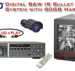 ALL DIGITAL 2 BLACK & WHITE IR NIGHTVISION CAMERA SYSTEM WITH DIGITAL RECORDER  ***Professional Grade***