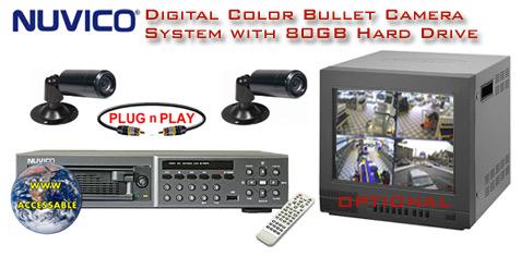 ALL DIGITAL 2 COLOR CAMERA SYSTEM WITH DIGITAL MULTIPLEXER RECORDER  ***Professional Grade***