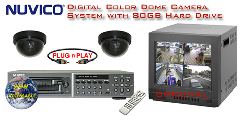 ALL DIGITAL 2 COLOR DOME CAMERA SYSTEM WITH DIGITAL MULTIPLEXER RECORDER  ***Professional Grade***