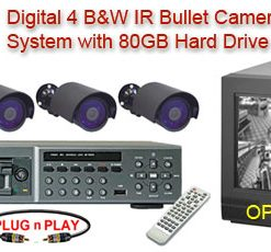 ALL DIGITAL 4 BLACK & WHITE IR NIGHTVISION CAMERA SYSTEM WITH NUVICO DIGITAL RECORDER  ***Professional Grade***