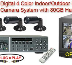 ALL DIGITAL 4 COLOR CAMERA SYSTEM WITH NUVICO DIGITAL MULTIPLEXER RECORDER  ***Professional Grade***