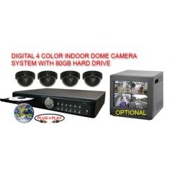 ALL DIGITAL 4 COLOR DOME CAMERA SYSTEM WITH DIGITAL MULTIPLEXER RECORDER  ***Professional Grade***