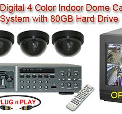 ALL DIGITAL 4 COLOR DOME CAMERA SYSTEM WITH NUVICO DIGITAL MULTIPLEXER RECORDER  ***Professional Grade***