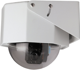 GE SECURITY KTA-DE3-G1C CyberDome Classic 22x Color, 8-Inch Heavy-Duty with Heater and Fan, Clear Dome, 22x Color, NTSC, Coax Video
