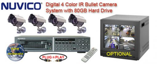 ALL DIGITAL 4 COLOR IR NIGHTVISION CAMERA SYSTEM WITH NUVICO DIGITAL RECORDER  ***Professional Grade***
