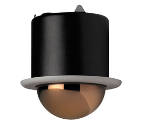 GE SECURITY KTA-F6-E1C CyberDome Day-Nite 25x, 6-Inch Flush-Mount, Chrome Mirrored Dome, 25x Color/Monochrome, NTSC, Coax Video