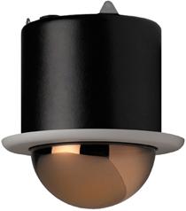 GE SECURITY KTA-F7-F2C CyberDome Classic 22x B&W, 6-Inch Flush-Mount, Gold Mirrored Dome, 22x B&W, PAL, Coax Video
