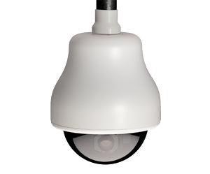 GE SECURITY KTA-HE4-F2C CyberDome Classic 22x B&W, 7-Inch Pendant-Mount with Heater and Fan, Smoke Dome, 22x B&W, PAL, Coax Video