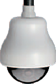 GE SECURITY KTA-HE6-0C HIGH RESOLUTION, COLOR GE CYBERDOME, CHROME MIRRORED DOME, PENDANT MOUNT, HEATER