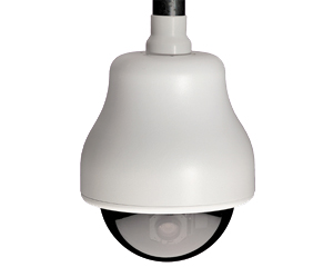 GE SECURITY KTA-HE6-F2C CyberDome Classic 22x B&W, 7-Inch Pendant-Mount with Heater and Fan, Chrome Mirrored Dome, 22x B&W, PAL, Coax Video