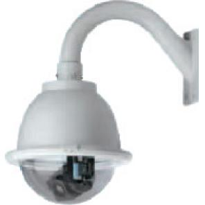 GE SECURITY KTA-PE3-0T HIGH RESOLUTION, COLOR GE CYBERDOME, CLEAR PRESSURDOME, HEATER