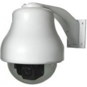 GE SECURITY KTA-RE9-0C HIGH RESOLUTION, COLOR GE CYBERDOME, SMOKE POLYCARBONATE DOME, RUGGED HOUSING, HEATER