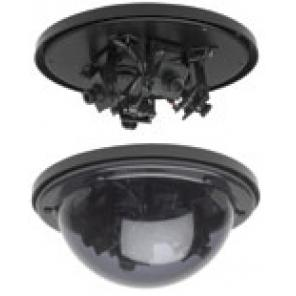 GE SECURITY MV-1203-4 Multi-View Dome High Res. B/W, 3 camera, 2.5mm,4mm, 6mm Lens pack, 10-40vdc/18-30vac