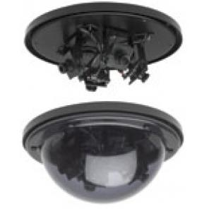 GE SECURITY MV-1502-4 Multi-View Dome High Res. Color, 2 camera, 2.5mm,4mm, 6mm Lens pack, 10-40vdc/18-30vac