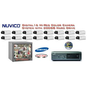 ***NEW*** NUVICO DIGITAL COMPLETE 16 CAMERA COLOR HIGH-RES SYSTEM ***Professional Grade***