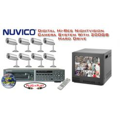 **NEW** NUVICO ALL DIGITAL COMPLETE 8 CAMERA COLOR OUTDOOR HIGH-RES SYSTEM  ***Professional Grade***