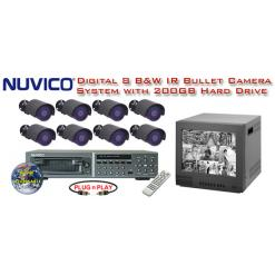 ***NEW*** COMPLETE 8 CAMERA INFRARED OUTDOOR ALL DIGITAL SYSTEM  ***Professional Grade***