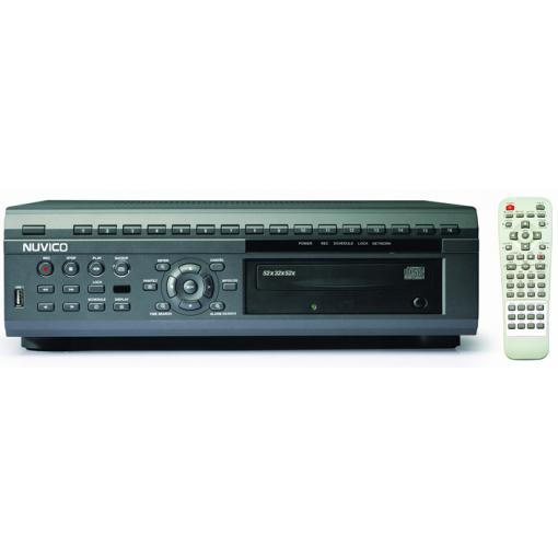 *NEW* NUVICO 4 CHANNEL NVDV3-4080 4 CHANNEL QUADRUPLEX DVR WITH BUILT IN CD-RW