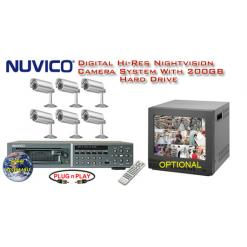 **NEW** NUVICO ALL DIGITAL COMPLETE 6 CAMERA COLOR OUTDOOR HIGH-RES SYSTEM ***Professional Grade***