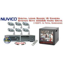 ***NEW*** NUVICO DIGITAL COMPLETE 6 LONG RANGE HI-RES IR CAMERA SYSTEM ***Professional Grade***