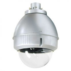 PANASONIC POD9C Outdoor housing for P-T-Z cameras (including WV-CS954), clear dome, pendant mount, silver