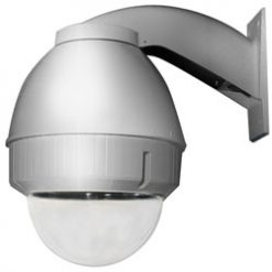 PANASONIC POD9CW Outdoor housing for P-T-Z cameras (including WV-CS954), clear dome, wall mount, silver
