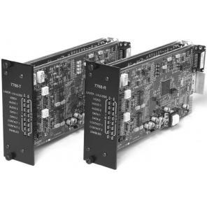 GE SECURITY S7768DAVT-RST2 SM – 2-Way Video, 2-CH Audio & MPD Data, Digitally Processed, Tx, Rack, 2-Fiber