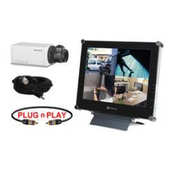 SINGLE HIGH RESOLUTION COLOR FIXED CAMERA SYSTEM WITH LCD FLAT PANEL MONITOR