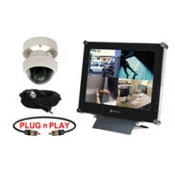 SINGLE HIGH RESOLUTION DOME CAMERA SYSTEM WITH LCD FLAT PANEL MONITOR
