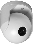 GE SECURITY BC-1200-8-B Ball Camera, high resolution, 580 TVL B/W, 8mm lens, 10-40 vdc/18-30vac, black