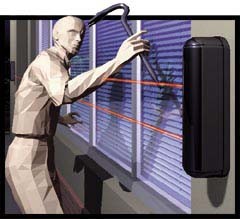 BX-100PLUS BOUNDRYGUARD OUTDOOR PIR PHOTOELECTRIC DETECTOR. ROLLUP WIND-DOORS