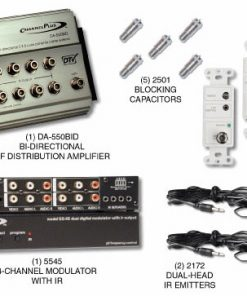 CHANNEL PLUS 5555BID BI-DIRECTIONAL RF DISTRIBUTION KIT WITH 12VOLT IR SYSTEM