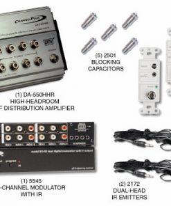 CHANNEL PLUS 5555HHR HIGH HEADROOM RF DISTRIBUTION KIT WITH 12 VOLT IR SYSTEM