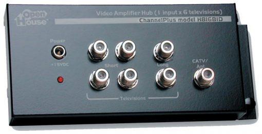 CHANNEL PLUS / OPEN HOUSE H816BID BI-DIRECTIONAL ECONOMICAL WHOLE HOUSE VIDEO DISTRIBUTION AMPLIFIER