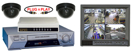 COMPLETE 2 ANALOG COLOR DOME SECURITY CAMERA SYSTEM W/*Samsung 960 Hour Recorder*