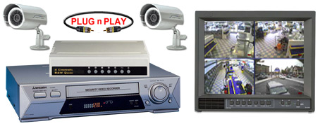 COMPLETE 2 ANALOG COLOR INFRA RED CAMERA SYSTEM W/* Samsung 960 Hour Recorder*