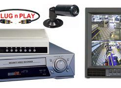 COMPLETE 2 ANALOG COLOR SECURITY CAMERA SYSTEM W/*Samsung 960 Hour Recorder*