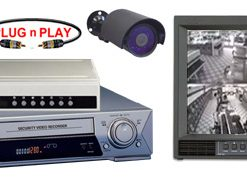 COMPLETE 2 B/W ANALOG INFRARED SECURITY CAMERA SYSTEM W/* Samsung 9600 Hour Recorder*